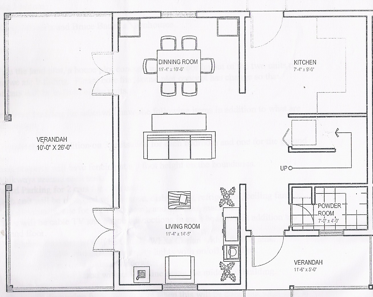Downstairs Drawing of Condo